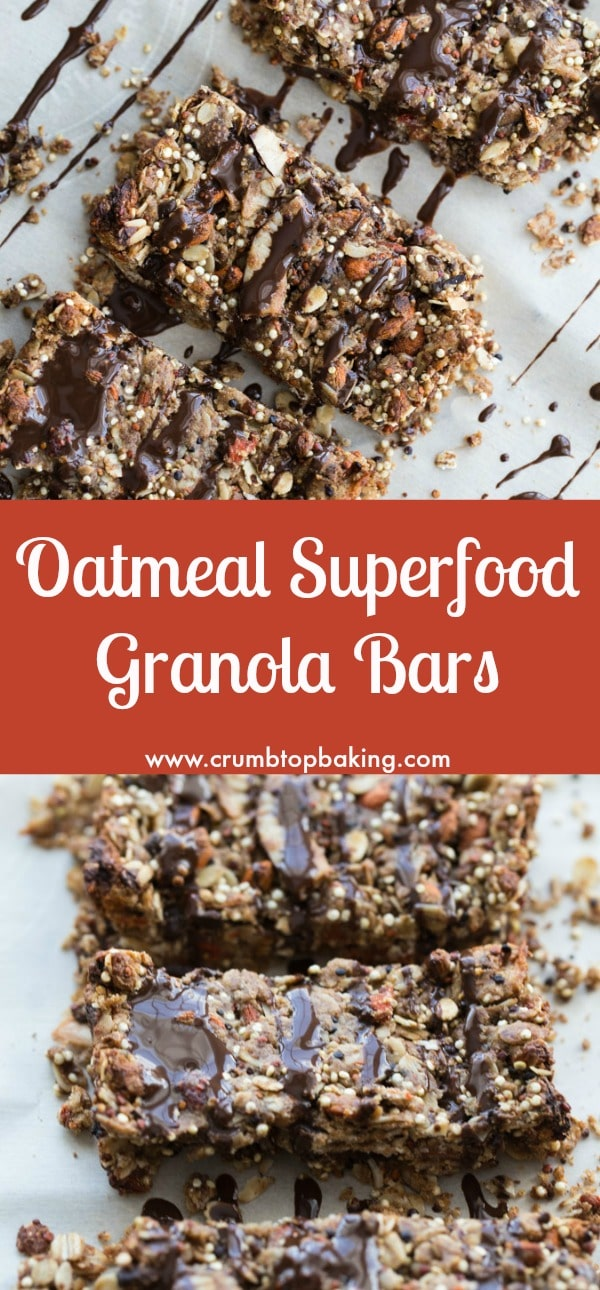 Oatmeal Superfood Granola Bars