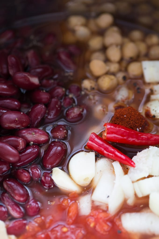 Spicy Tomato Chickpea Soup