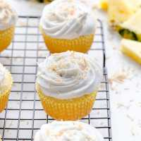Pineapple Coconut Cupcakes (Vegan)