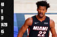 Jimmy Butler, taille patron et poids all-time : 40 points, 11 rebonds et 13 passes pour la victoire du Heat au Game 3…!