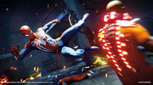 Marvel's Spider-Man running on a PS5