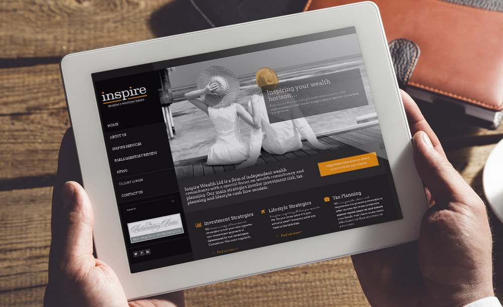 Inspire Wealth website design