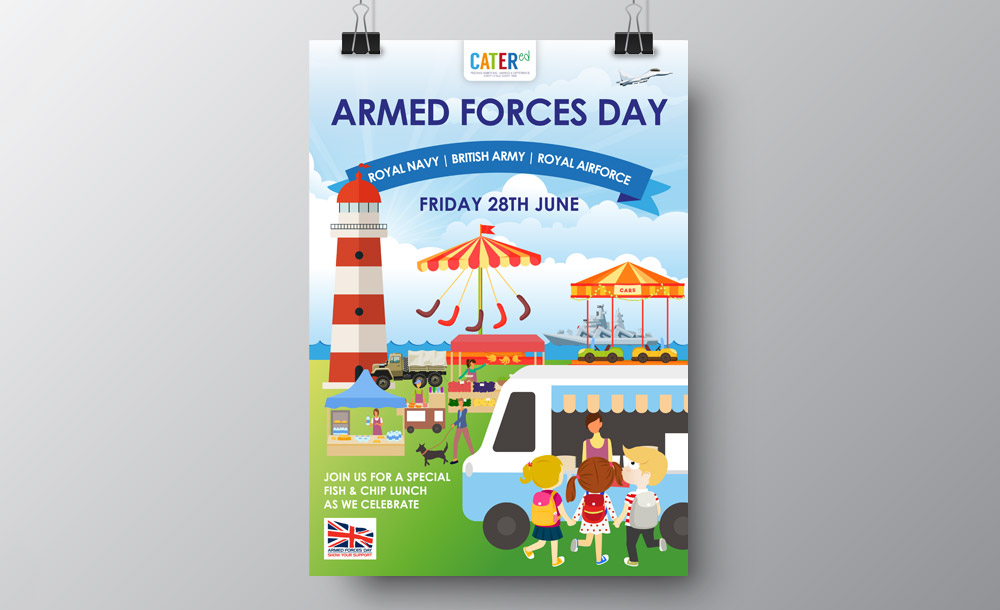 Catered Armed Forces Day Poster Design
