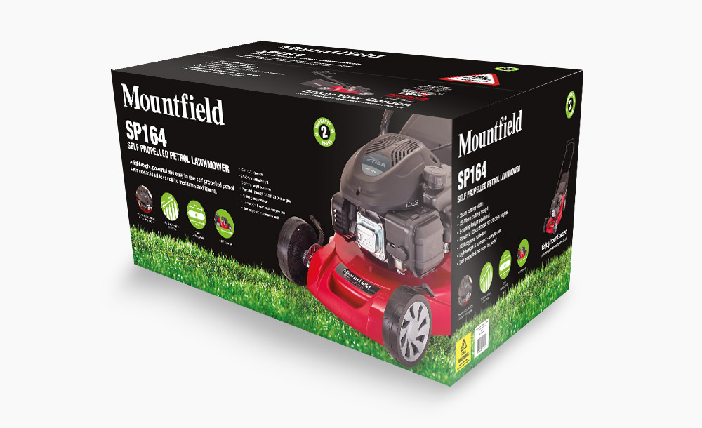 Mountfield Lawnmower Packaging design