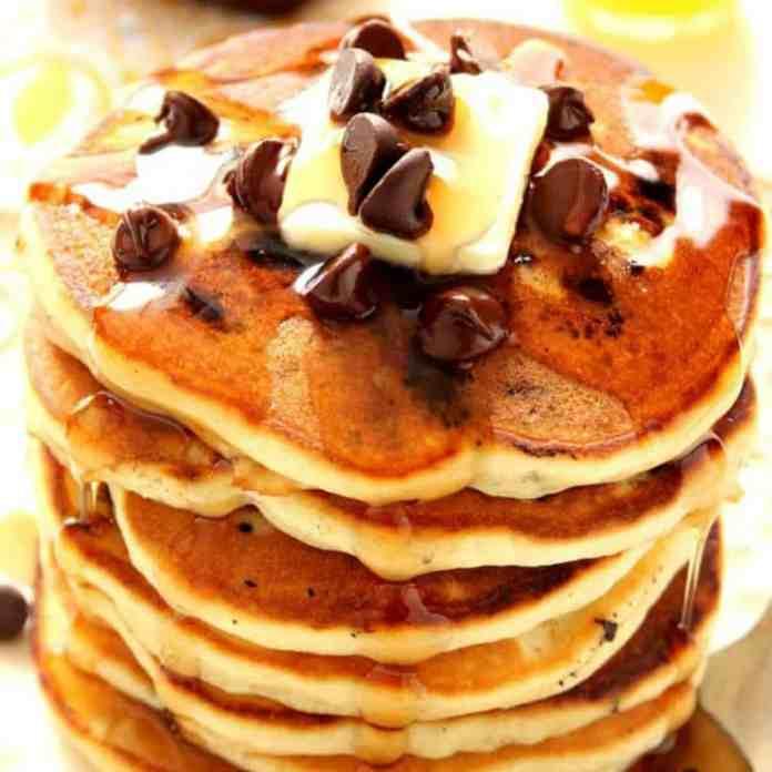 Chocolate Chip Pancakes Crunchy Creamy Sweet