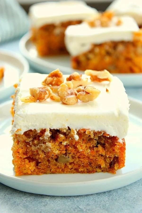 The Best Moist Carrot Cake Recipe Crunchy Creamy Sweet