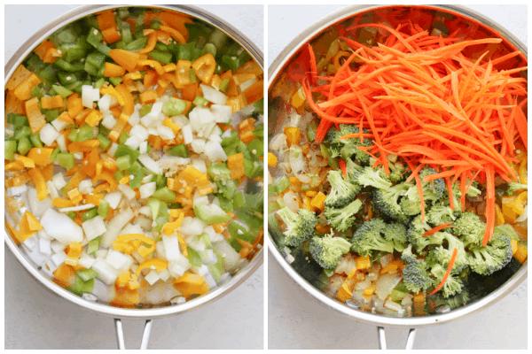 vegetable stir fry step 1 Vegetable Stir Fry