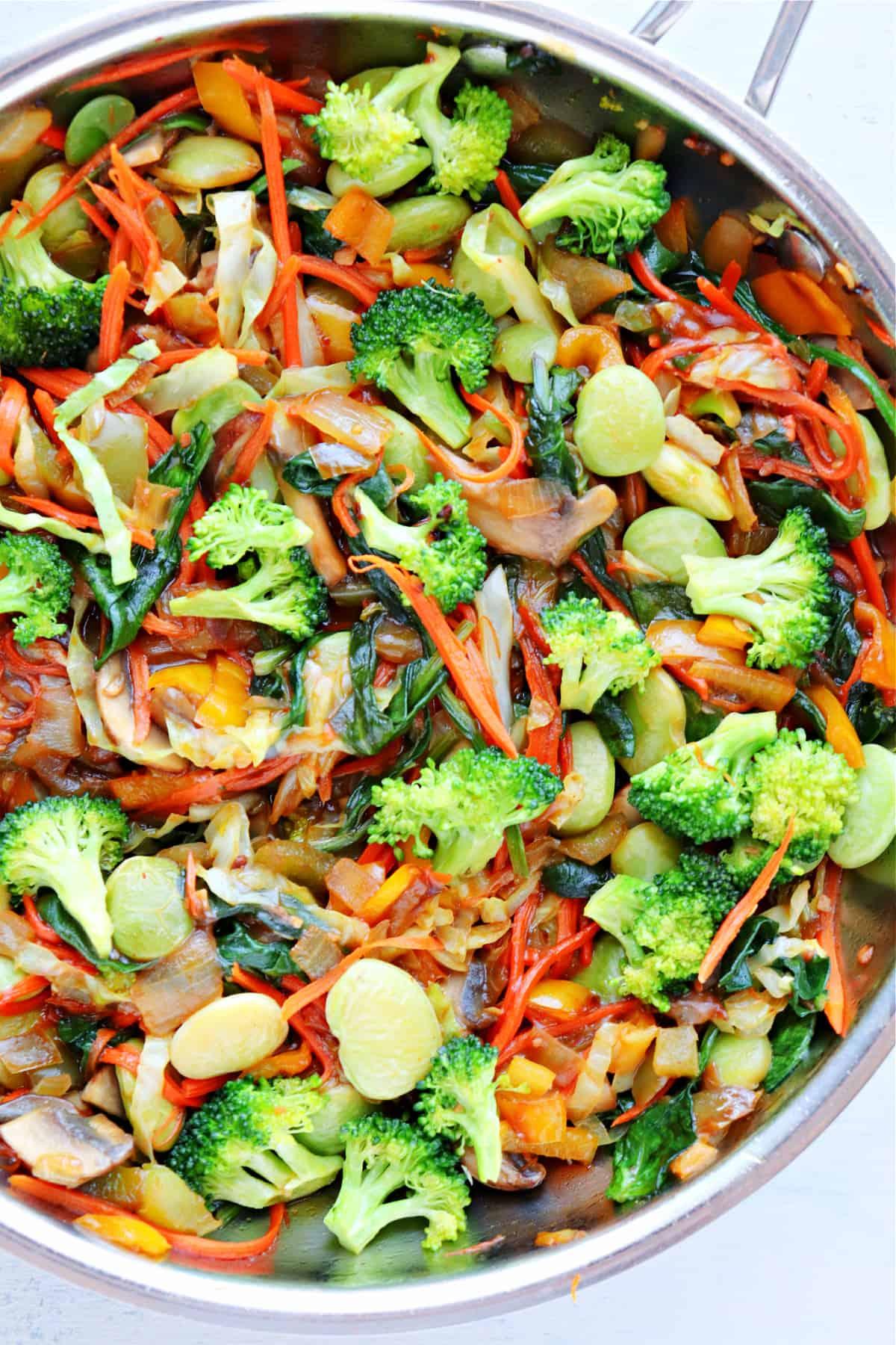 veggie stir fry B Vegetable Stir Fry