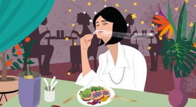 Scent Dinner | CrunchyTales | Stefania Tomasich Illustration