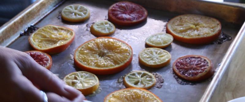 Roasting Citurs Oranges
