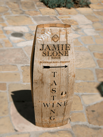Jamie Slone Wine Tasting Sign