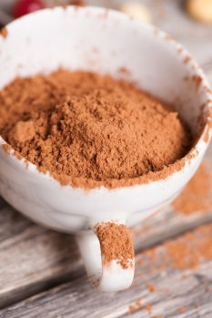 cocoa powder in cup