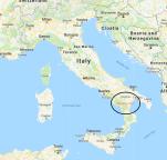 Italy map with Syrah