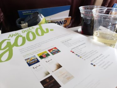 Alaska Air regional wine selections