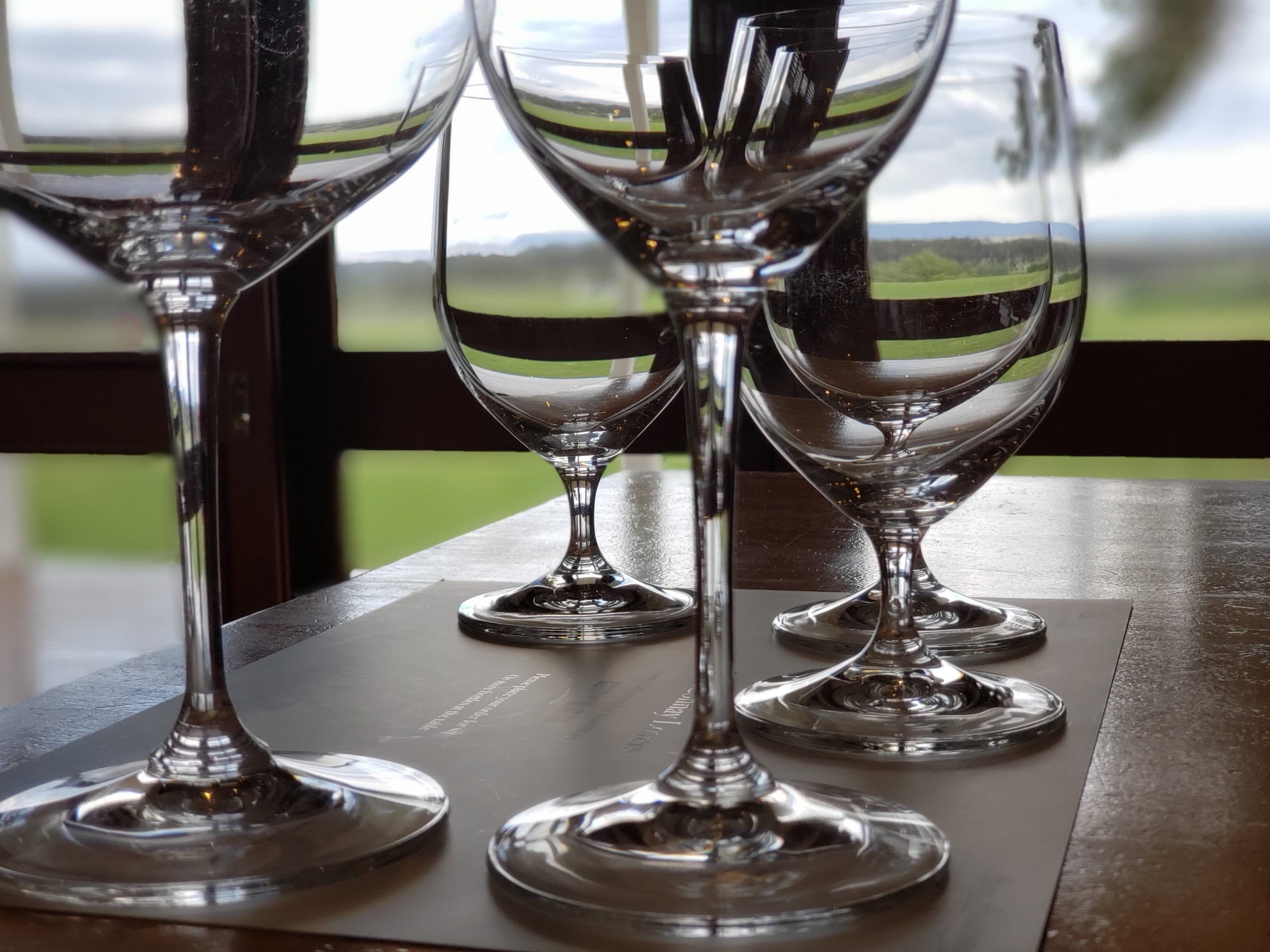 Tasting glasses at Scarborough Hunter Valley NSW