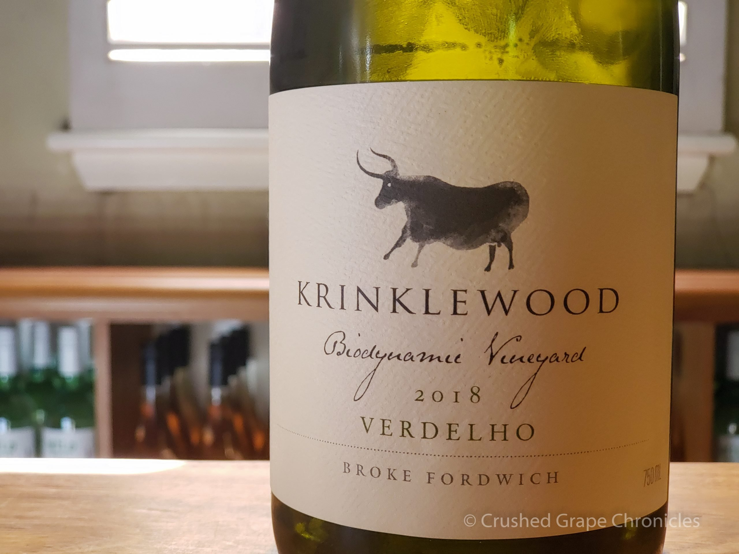 Krinklewood in Hunter Valley Australia 2018 Biodynamic Verdelho Broke Fordwich
