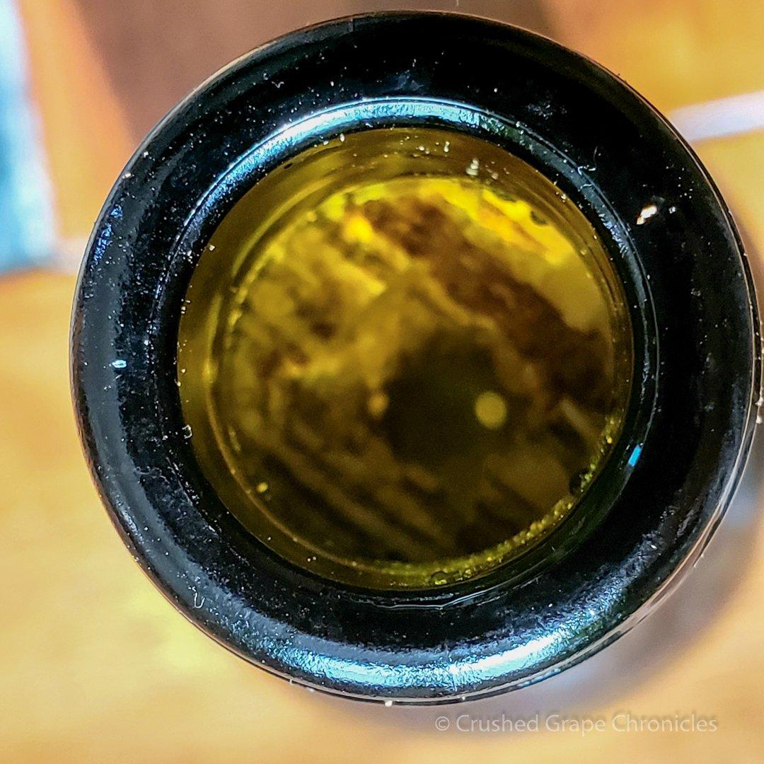Broken stuck cork in the bottle