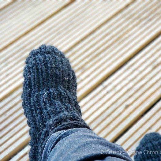 comfy warm slippers that kept my toes warm while I enjoyed by morning coffee on the porch at Nashdale Lane, NSW Australia