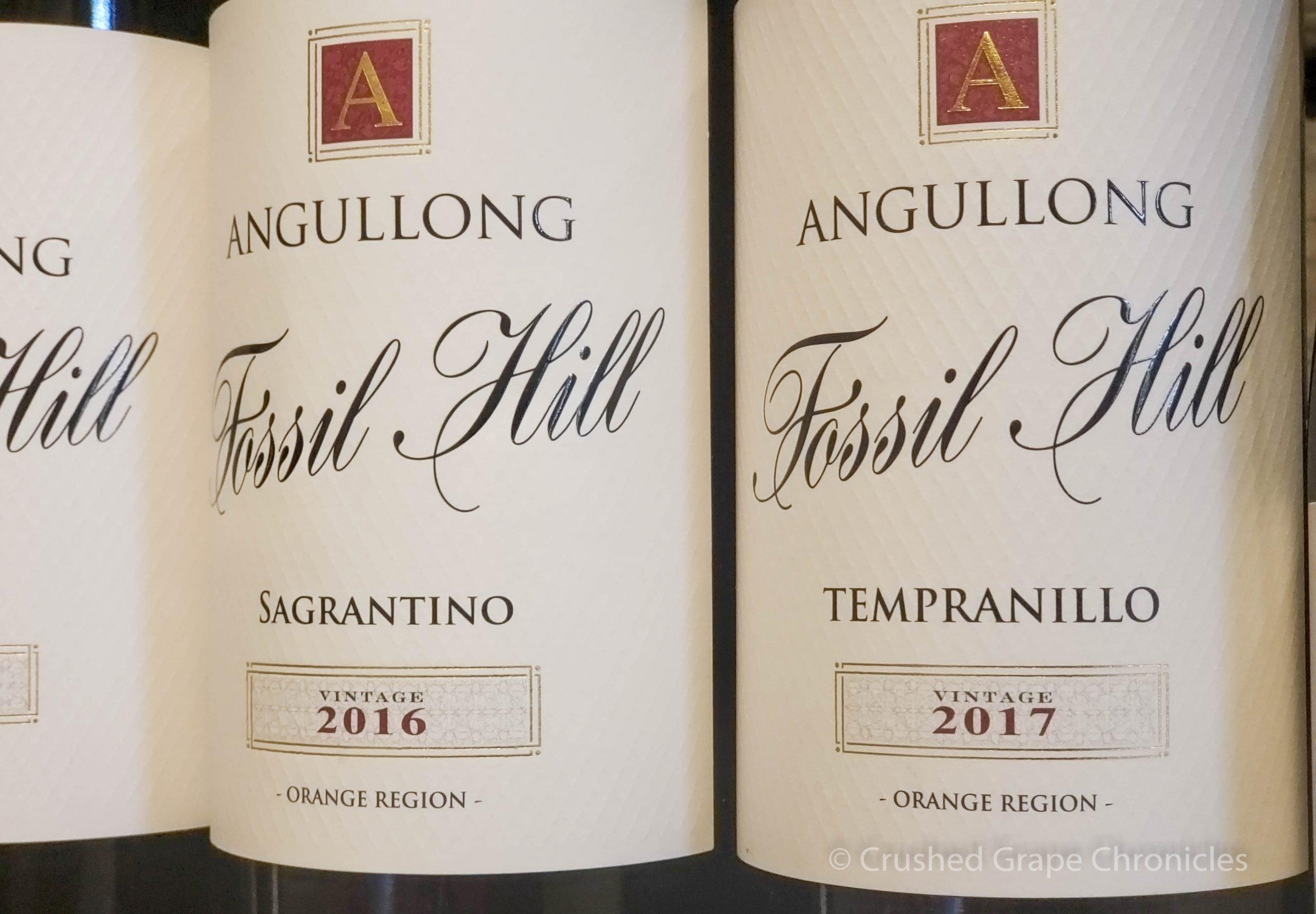 Angullong 2017 Tempranillo and 2016 Sagrantino at Angullong Vineyard in Cellar Door in Millthorpe, Orange NSW Australia