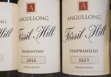 Angullong 2017 Tempranillo and 2016 Sagrantino at Angullong Vineyard in Cellar Door in Millthorpe, Orange NSW Australia