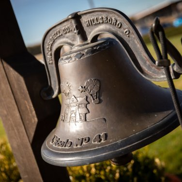 The schoolhouse bell - The L'Ecole No 41 Schoolhouse - photo courtesy L'Ecole No. 41
