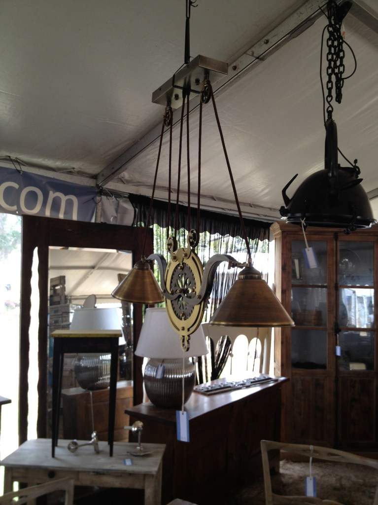 Antique Pulley Lights | Round Top