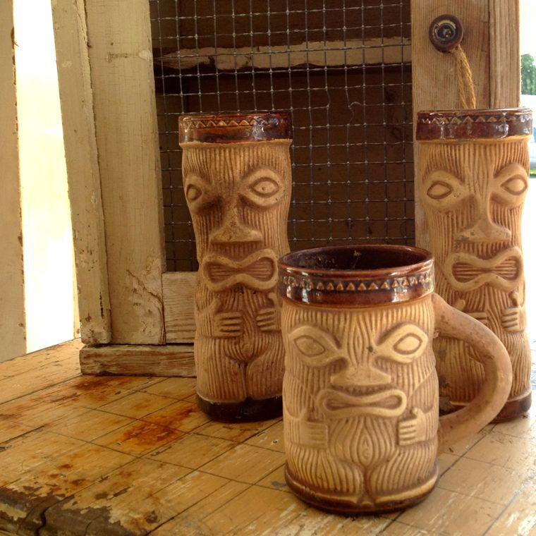 Chicken Ranch Tiki Mugs