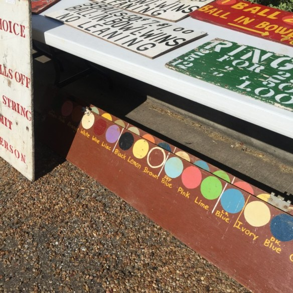 Antiques on the Square in Fayetteville: I wish someone would hire me to name colors