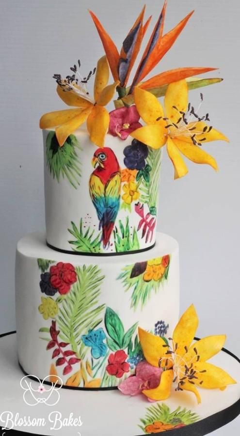 Amazing Cake Ideas With Parrot Theme Parrot Cake Design