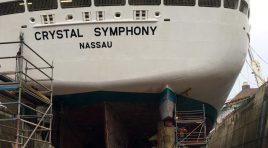 Trabalhos de rejuvenescimento já começaram no Crystal Symphony