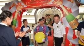 Royal Caribbean International celebrou o seu passageiro 1 milhão