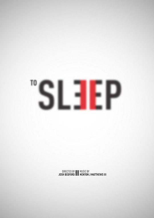 To Sleep poster