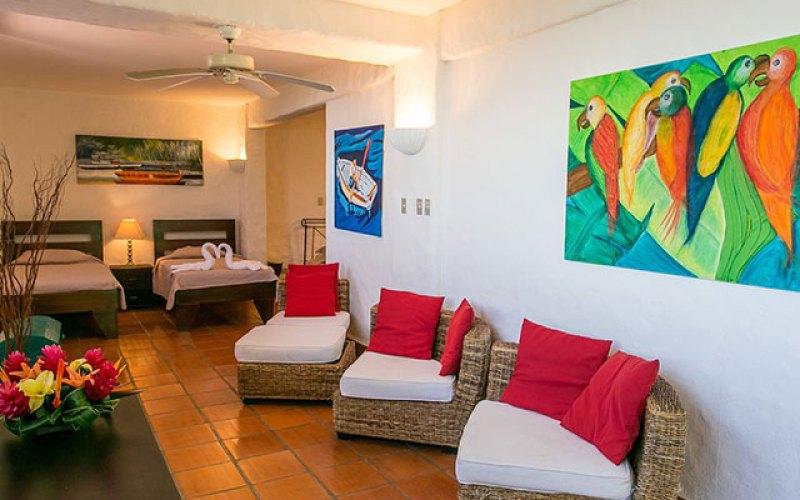 Manuel Antonio Vacation Rental VP Private Resort bedroom with 2 queen and 2 single beds