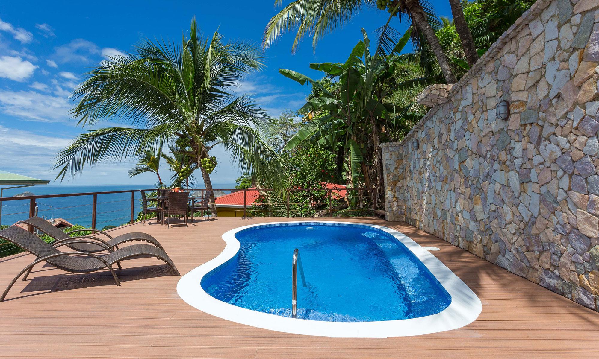Villa Natura pool and view