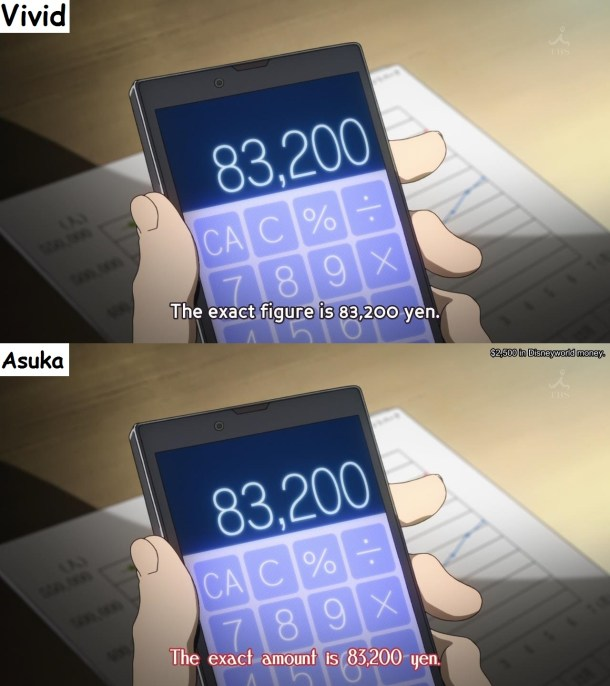 Amagi Brilliant Park - Asuka Subs vs Vivid - Conversion