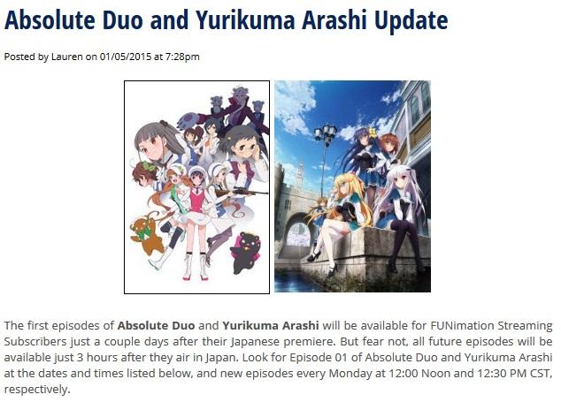 Funimation - Update