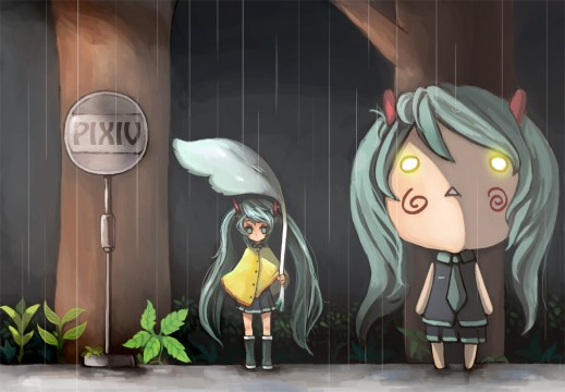 I'd give you pics, but Miku's cuter, so...