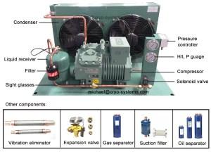 bitzer refrigeration unit, bitzer aircooled condensing unit