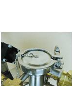 gravity feed port for custom liquid nitrogen dewar
