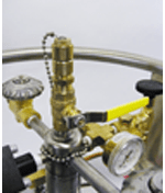 liquid nitrogen dewar custom withdrawal valve