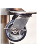 locking caster for cryogenic nitrogen dewar