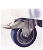 pedal locking caster for cryogenic dewar
