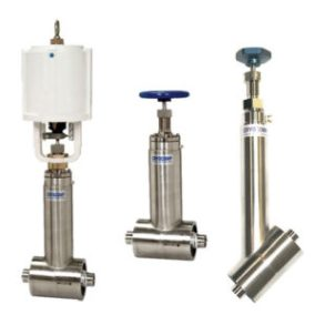 cryogenic valves with manual and actuated function