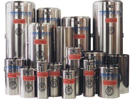 cryogenic dewar flasks in all sizes