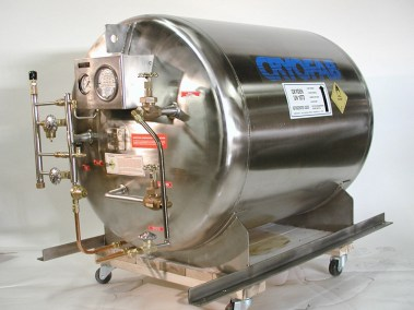 skid mounting for cryogenic vessel