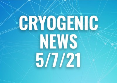 Cryogenic News May 7, 2021