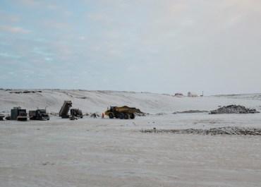 Gravel pit along the Inuvik-Tuktoyaktuk Highway.