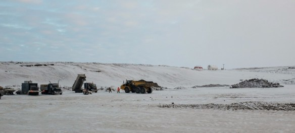 Gravel pit along the Inuvik-Tuktoyaktuk Highway.