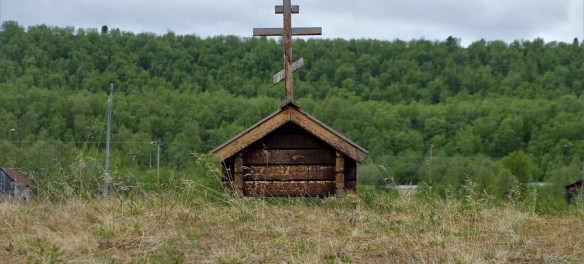 An old Skolt Sami Orthodox church.