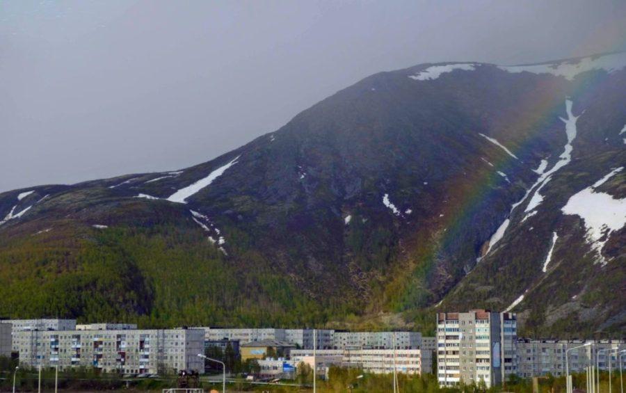 Rainbow over Monchegorsk